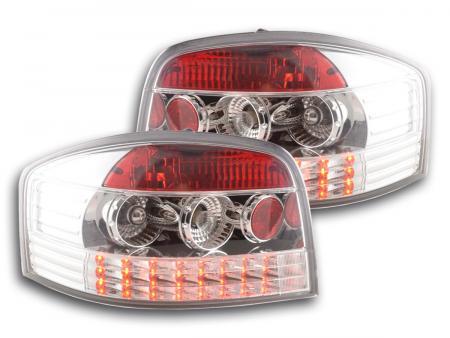 LED Rückleuchten Audi A3 Typ 8P Bj. 03-05 chrom