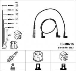 Zündleitungssatz NGK (0753), MERCEDES-BENZ, Saloon, Kombi T-Model, Coupe, G-Klasse