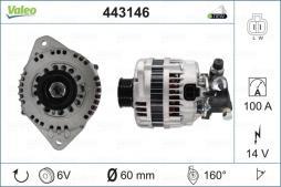 Generator VALEO (443146), OPEL, Astra G CC, Astra G Stufenheck, Astra G Caravan, Corsa C, Combo Kasten/Kombi, Meriva, Combo Tour