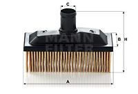 Filter, Kurbelgehäuseentlüftung MANN-FILTER (C 118), MERCEDES-BENZ, S-Klasse Coupe, S-Klasse, SL, SL Coupe
