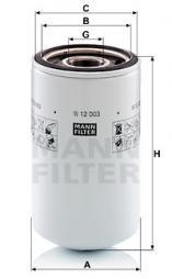 Ölfilter MANN-FILTER (W 12 003)