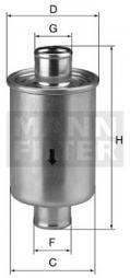 Hydraulikfilter, Automatikgetriebe MANN-FILTER (W 76/1)