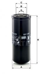 Filter, Arbeitshydraulik MANN-FILTER (WH 1263)
