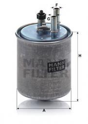 Kraftstofffilter MANN-FILTER (WK 918/2 x), RENAULT, Kangoo/Grand Kangoo, Laguna III, Laguna III Grandtour, Twingo II, Laguna Coupe, Kangoo Be Bop