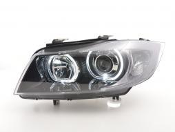 Scheinwerfer Angel Eyes gebraucht LED BMW 3er E90/E91 Bj. 2005-2011 schwarz