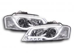 Scheinwerfer Set Daylight LED Tagfahrlicht Audi A3 8P/8PA Bj. 08-12 chrom
