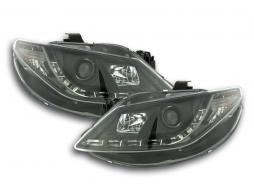 Scheinwerfer Daylight gebraucht LED TFL-Optik Seat Ibiza Typ 6J Bj. 08-12 schwarz