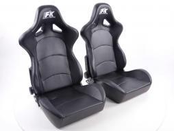 FK Sportsitze Auto Halbschalensitze Set Control mit Sitzheizung u. Massage