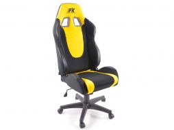 FK Sportsitz Bürodrehstuhl Racecar schwarz/gelb Chefsessel Drehstuhl Bürostuhl
