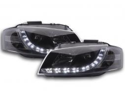 Scheinwerfer Set Daylight LED TFL-Optik Audi A3 Typ 8P  03-07 schwarz