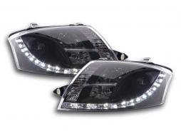 Scheinwerfer Set Daylight LED TFL-Optik Audi TT Typ 8N Bj. 99-06 schwarz