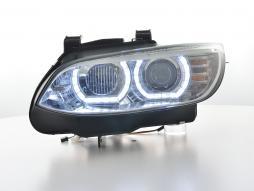 Scheinwerfer Set Xenon Daylight LED Tagfahrlicht BMW 3er E92/E93 Bj. 06-10 chrom