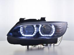 Scheinwerfer Set Xenon Daylight LED Tagfahrlicht BMW 3er E92/E93 Bj. 06-10 schwarz