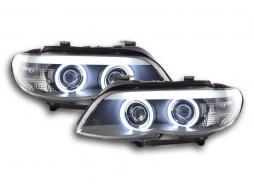 Scheinwerfer Set Xenon Daylight CCFL TFL-Optik BMW X5 E53 Bj. 03-06 schwarz