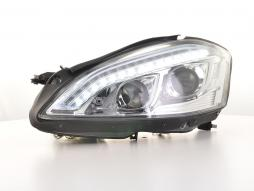 Scheinwerfer Set Xenon Daylight LED TFL-Optik Mercedes-Benz S-Klasse (221)  05-09 chrom