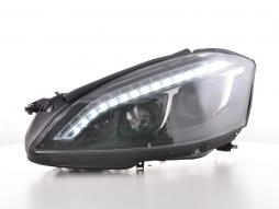 Scheinwerfer Set Xenon Daylight LED TFL-Optik Mercedes-Benz S-Klasse (221) Bj. 05-09 schwarz
