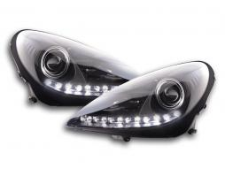 Scheinwerfer Set Daylight LED TFL-Optik Mercedes SLK R171 Bj. 04-11 schwarz