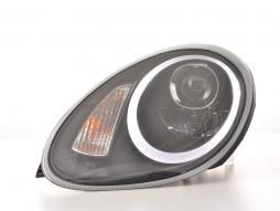 Scheinwerfer Set Xenon Daylight LED TFL-Optik Porsche Boxster (987) Bj. 04-08 schwarz