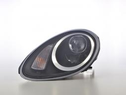 Scheinwerfer Set Daylight LED TFL-Optik Porsche Boxster Typ 987 Bj. 04-09 schwarz