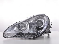 Scheinwerfer Set Xenon Daylight LED TFL-Optik Porsche Cayenne 9PA Bj. 02-06 chrom
