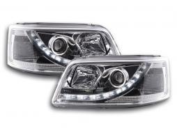 Scheinwerfer Set Daylight LED Tagfahrlicht VW Bus T5 Bj. 03-09 chrom