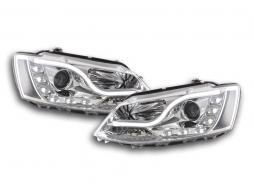 Scheinwerfer Set Daylight LED Tagfahrlicht VW Jetta 6 Bj. ab 2011 chrom