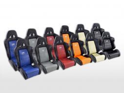 siège baquet modèle Dallas (1xgauche+1xdroite) gris/noir, couture gris