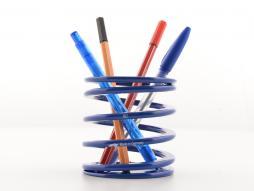 FK portapenne abbassamento primavera disegno Stiftebox corsa blu