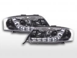 Scheinwerfer Set Daylight LED TFL-Optik Audi A6 Typ 4B  01-04 chrom