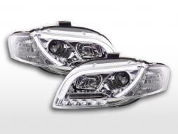 Scheinwerfer Set Daylight LED Tagfahrlicht Audi A4 Typ 8E  04-08 chrom
