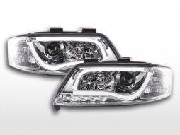 Scheinwerfer Set Daylight LED Tagfahrlicht Audi A6 Typ 4B  97-01 chrom