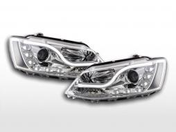 Scheinwerfer Set Daylight LED Tagfahrlicht VW Jetta 6  ab 2011 chrom