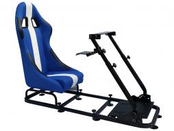 FK Gamesitz Spielsitz Rennsimulator eGaming Seats Interlagos blau/weiß