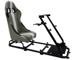 FK Gamesitz Spielsitz Rennsimulator eGaming Seats Interlagos grau/weiß