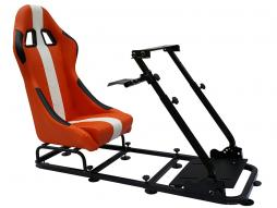 FK Gamesitz Spielsitz Rennsimulator eGaming Seats Interlagos orange/weiß