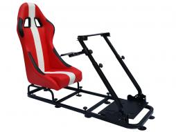 FK Gamesitz Spielsitz Rennsimulator eGaming Seats Interlagos rot/weiß