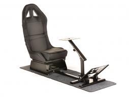 FK Gamesitz Spielsitz Rennsimulator eGaming Seats Suzuka schwarz mit Teppich
