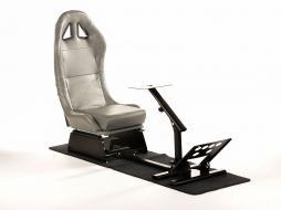 FK Gamesitz Spielsitz Rennsimulator eGaming Seats Suzuka grau mit Teppich