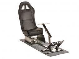 FK Gamesitz Spielsitz Rennsimulator eGaming Seats Suzuka Carbonlook schwarz mit Teppich