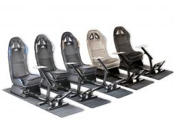 FK Gamesitz Spielsitz Rennsimulator eGaming Seats Suzuka Carbonlook schwarz mit Teppich [verschiedene Farben]