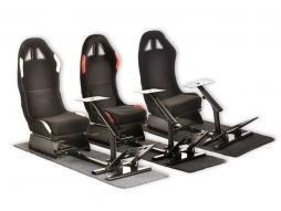 FK Gamesitz Spielsitz Rennsimulator eGaming Seats Suzuka schwarz mit Teppich Textilgewebe/Stoff [verschiedene Farben]
