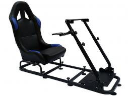 Game Seat for PC and game consoles imitation leather black/blue