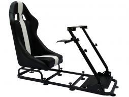FK Gamesitz Spielsitz Rennsimulator eGaming Seats Interlagos schwarz/weiß