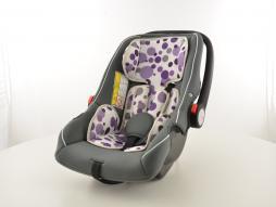 Kinderautositz Babyschale Autositz schwarz/weiß/lila Gruppe 0+, 0-13 kg