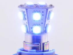 Birne LED für Bremslicht / Rücklicht mit 14 LEDs MOD. 1156, blau