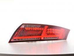 LED Rückleuchten Set Lightbar Audi TT 8J Bj. 06-14 rot/klar