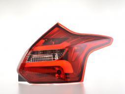 LED Rückleuchten Set Ford Focus 3 Schrägheck  11-14 rot/klar