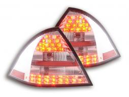 LED Rückleuchten Set Mercedes C-Klasse W203 Limo Bj. 01-04 rot/klar