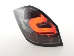 LED Rückleuchten Set gebraucht Skoda Fabia 5-türig Bj. ab 2007 schwarz