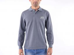 Poloshirt, Polo, Shirt, Top Modern, Klasse Design, grau Größe S